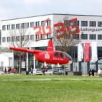 Hubschrauber auf einem Event des 3G Kompetenzzentrum