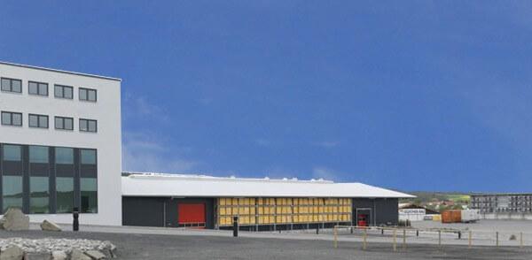Außenbereich des Kompetenzzentrum für Ladungssicherung
