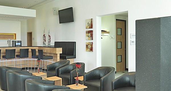 Empfangs und Loungebereich des 3G Ladungssicherungs-Gebäude