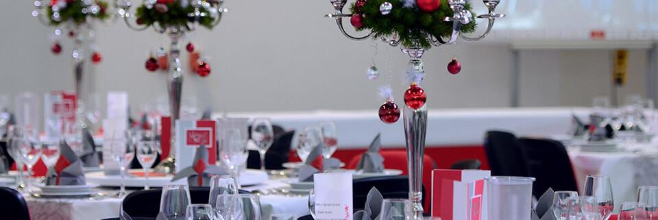Weihnachtsfeier 3G Kompetenzzentrum - Tischdeko