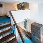 Treppenaufstieg zum Bett